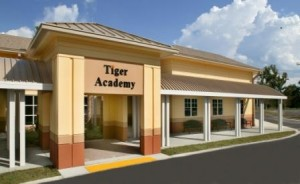 Front View of Tiger Academy